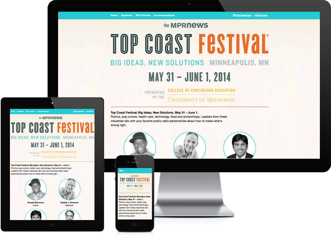 Top Coast Festival website
